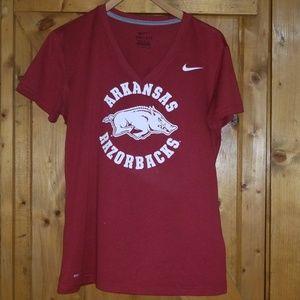 Nike Dri-fit Arkansas Razorbacks Tee Shirt